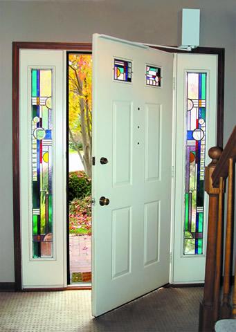 DuraSwing™ MK4R Residential Door Operator In A Residential Foyer